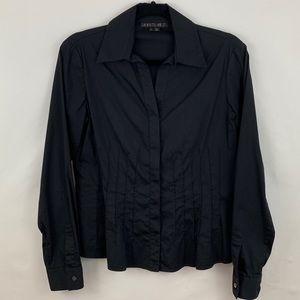 Lafayette 148 Stretch Cotton Button Down Shirt, 4